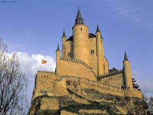 Postal: Alcazar (Segovia, España)