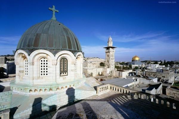 Vista sobre las azoteas de la Ciudad Vieja de Jerusalén