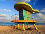 Puesto de socorrista en South Beach (Miami Beach, Florida)