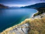 Lago en Queenstown, Nueva Zelanda