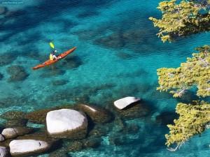 Postal: Piragüismo en el Lago Tahoe, Nevada