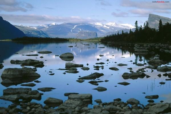 Lago Laitaure (Laponia, Suecia)