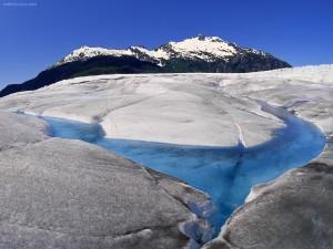 Postal: Glaciar Mendenhall (Juneau, Alaska)