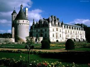 Postal: Castillo de Chenonceau y sus jardines (Francia)