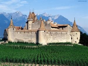 Postal: Castillo de Aigle (Suiza)