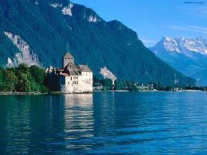 Postal: Castillo de Chillon (Suiza)
