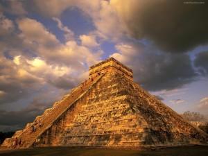 Postal: Antiguas ruinas mayas (Chichén Itzá, México)