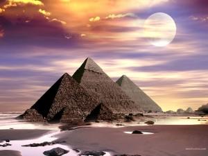 Postal: Pirámide de Keops (Egipto)