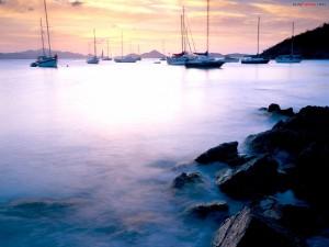 Postal: Puerto de aguas tranquilas