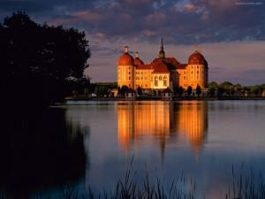 Postal: Castillo de Moritzburg (Sajonia, Alemania)