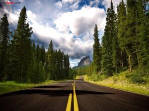 Postal: Carretera a la montaña