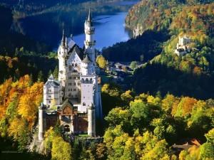 Postal: Neuschwanstein (Baviera, Alemania)
