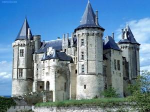 Postal: Castillo de Saumur (Francia)