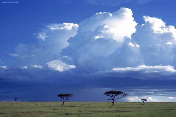 Tormenta sobre la sabana, Reserva Nacional Masai Mara, Kenia