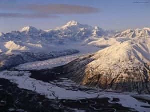 Postal: Montañas y nieve