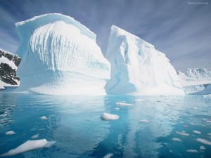 Postal: Enormes bloques de hielo