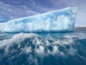 Glaciar a la deriva
