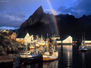 Arcoíris en el puerto