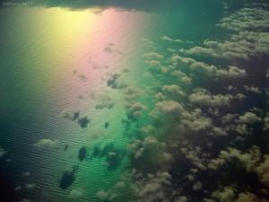 Arcoíris desde el cielo