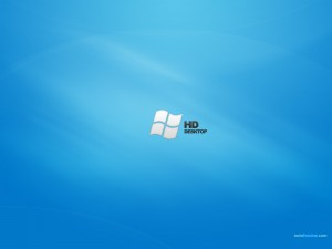Windows HD Desktop en fondo azul