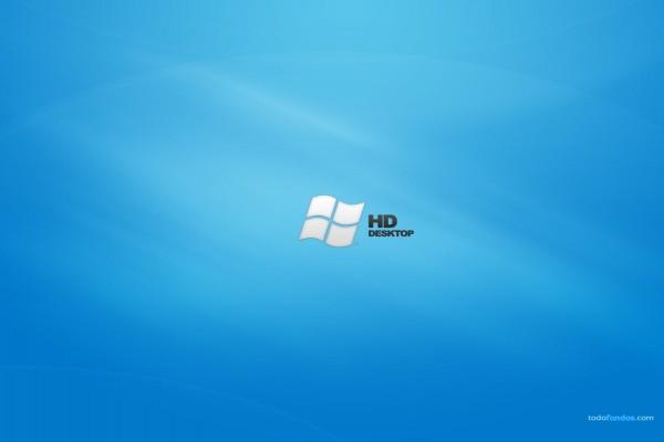 Windows HD Desktop en fondo azul