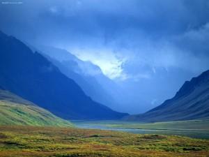 Postal: Valle nublado