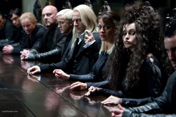 Los mortífagos, en Harry Potter y las reliquias de la muerte