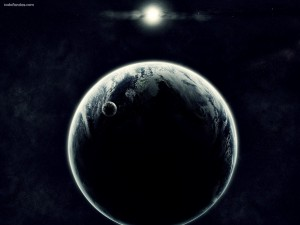 Postal: Planeta, satélite y estrella