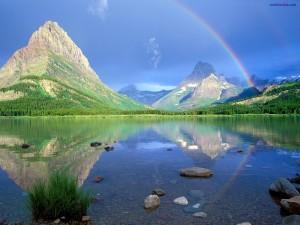 Arcoíris reflejado