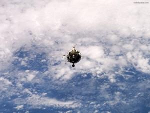 Postal: Satélite en órbita