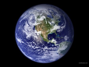 La esfera del planeta Tierra