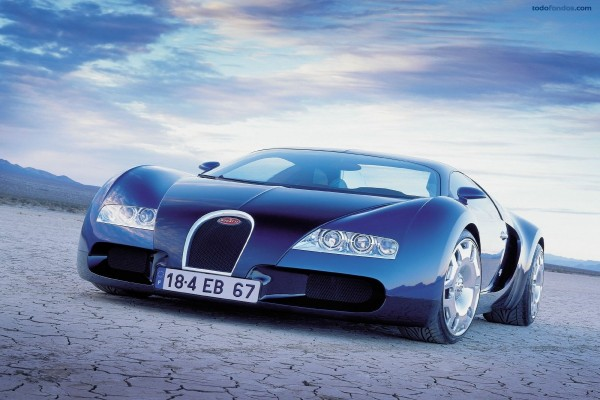 Bugatti deportivo azul