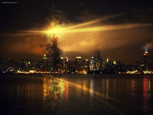 Alumbrando la ciudad