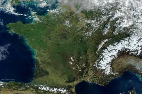 Francia desde el espacio