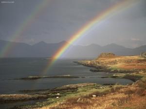 Postal: Doble arcoíris