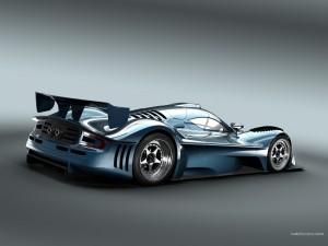 Prototipo azul de carreras