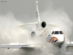 Pista de aterrizaje/despegue inundada