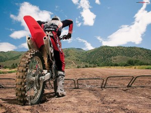Salida de motocross