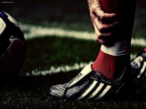 Bota de Steven Gerrard, jugador del Liverpool F. C.