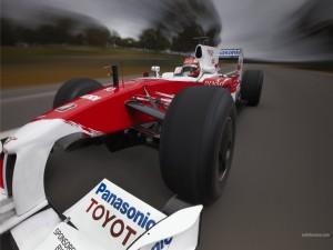 Monoplaza de Fórmula 1 del equipo Toyota