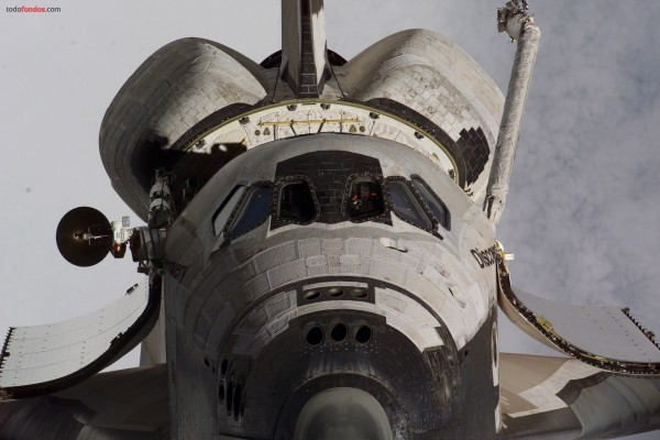 Frontal del transbordador espacial