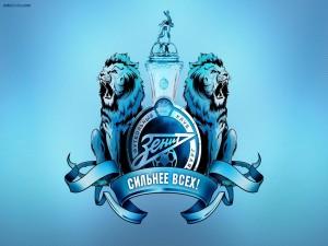 Postal: Escudo en azules del FC Zenit San Petersburgo
