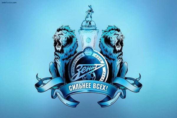 Escudo en azules del FC Zenit San Petersburgo