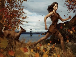 Postal: Pocahontas corriendo