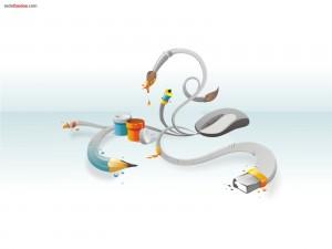 Del ratón salen todas las herramientas de dibujo