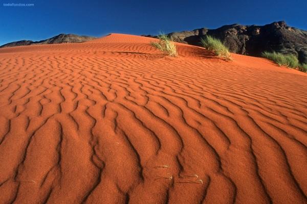 Arenas rojas del desierto