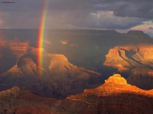 Postal: Arcoíris en el Gran Cañón