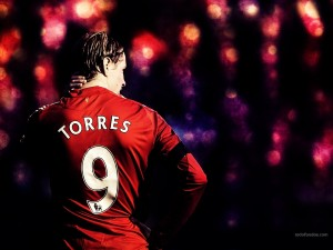 Fernando Torres, número 9 del Liverpool
