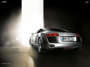 Parte trasera de un Audi R8