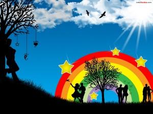 Viendo el arcoíris
